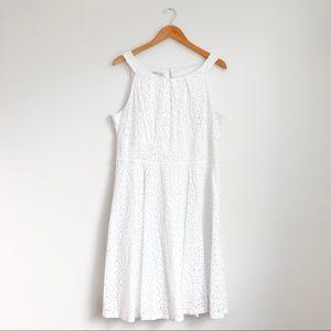 London Style White Eyelet Dress